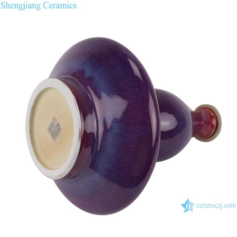 Lang red glaze kiln variable glaze blue flat belly gourd vases