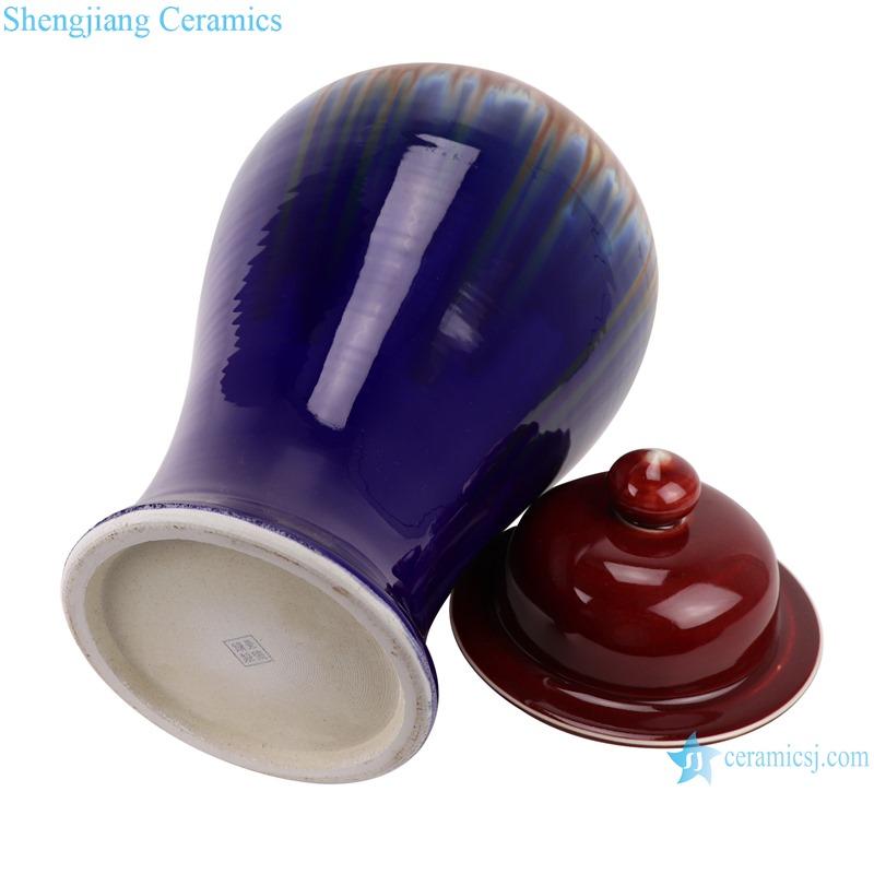 Lang red glaze kiln blue ginger pots