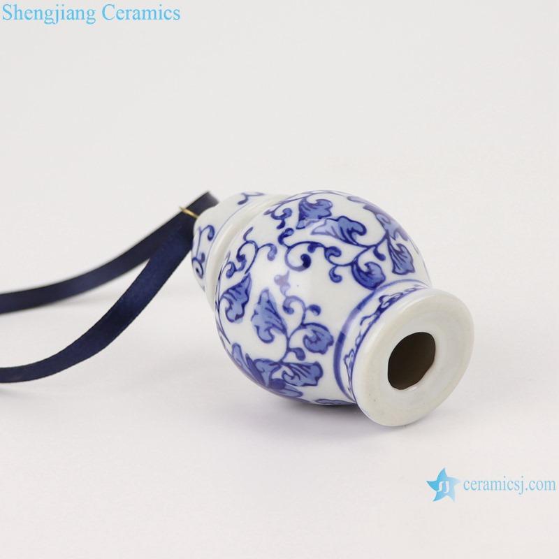 Blue&white twig small porcelain general pot pendant