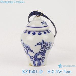 RZTo01-D Blue&white plum design pocelain general jar pendant