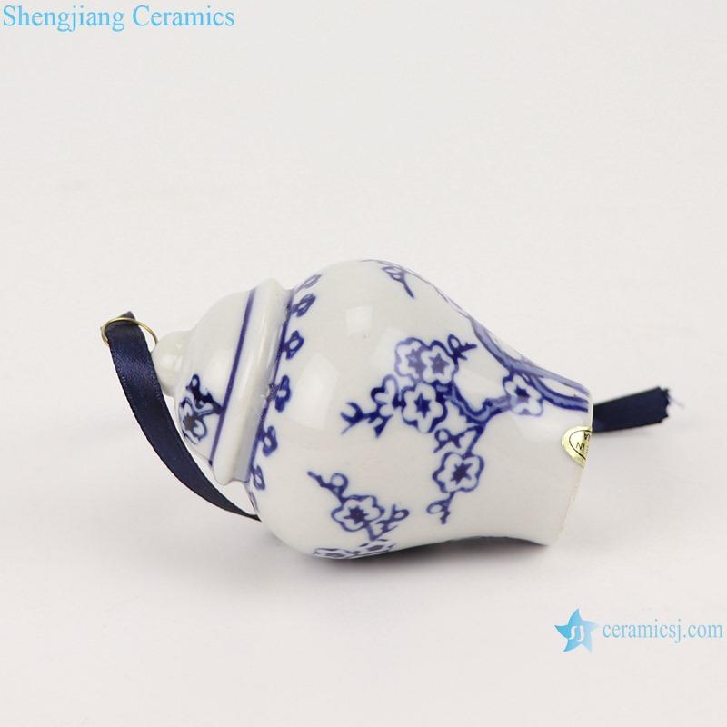 Blue&white plum design pocelain general jar pendant