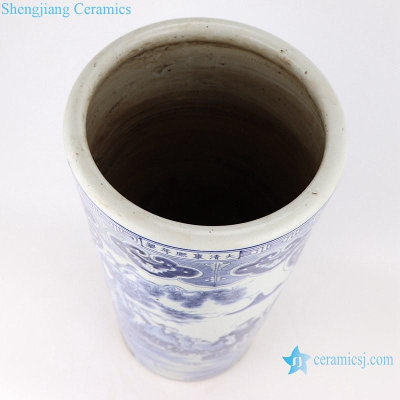 Blue&white porcelain multi-figure design vases umbrella stand