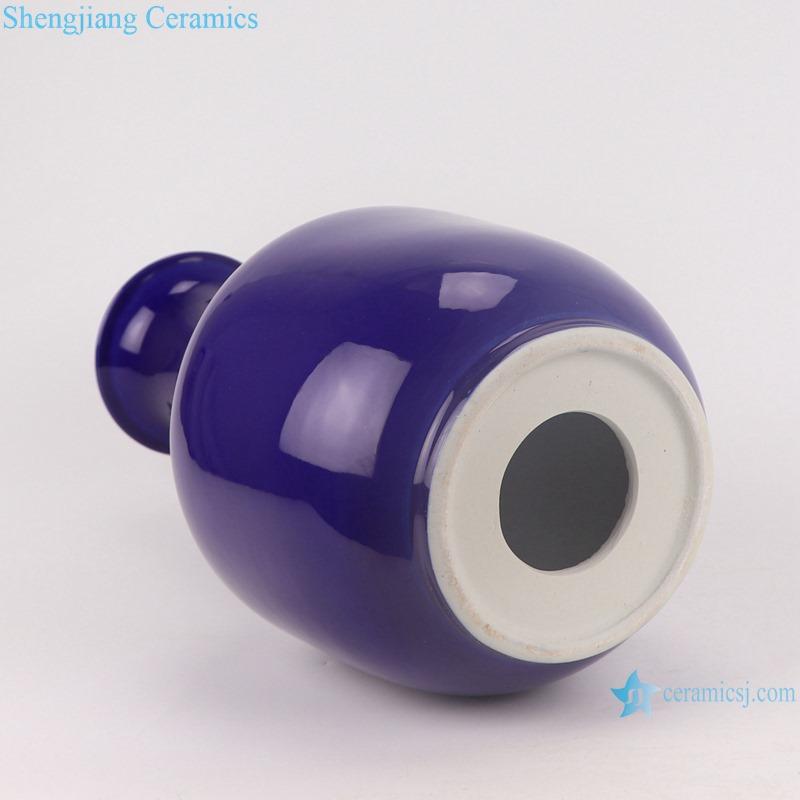 RZMS08-B Altar blue Glazed long neck Ceramic Vase